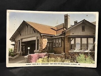 Vintage Photo Postcard BROCKLESBY REST HOME FOR WOMAN LILYDALE VIC Murray Views