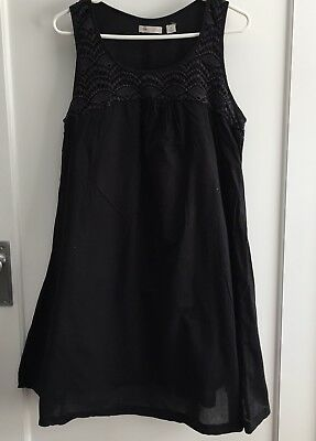 Ripe Black Maternity Dress With Crochet Detail Size Medium