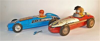 2 x alte Blech Rennwagen MF 828,Red China,Chinese tin race cars,Lotus MS 222