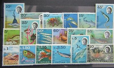 B.i.o.t - 1968 Marine Life Definitive Set Of 18 - Sg.16/30 - Fine Mnh