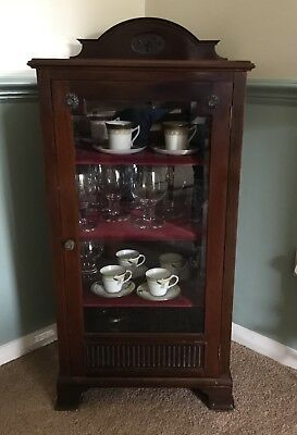 Antique- Victorian Or Edwardian Glass Fronted Display Cabinet