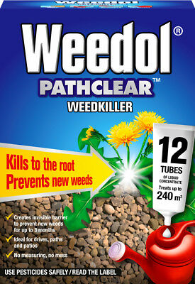 12 Tubes Weedol Pathclear Weed Killer Liquid Concentrate Paths Patios Driveways