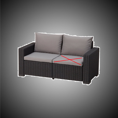 allibert lounge sofa rattan lounge california sofa grau. Black Bedroom Furniture Sets. Home Design Ideas