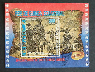 Equatorial Guinea 1976 American Bicentenary IMPERF used MS miniature sheet