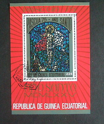 Equatorial Guinea 1975 Easter miniature Sheet MS used stained glass windows