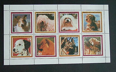 Equatorial Guinea Dogs dalmation sheetlet UM MNH unmounted mint