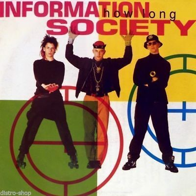 "7"" INFORMATION SOCIETY How Long (Technolash Mix) BLOW UP Info-Sheet Germany 1991"