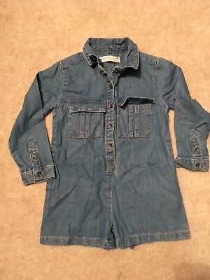Girls Zara Denim Jumpsuit Age 4