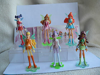 Winx Club DE 2006 komplett 6 Figuren MIT deutscher TECNA 100% ORIGINAL RAINBOW