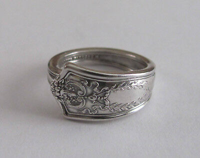 Sterling Silver Spoon Ring - Tiffany / Winthrop - size 8 (6 1/2 to 9) - 1909