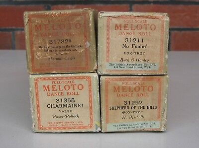 4 X Meloto brand Dance Player piano Pianola music Rolls   -- see pics for titles