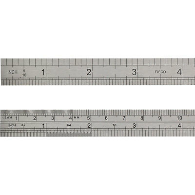 """Fisco Stainless Steel Rule 24"""" / 600mm"""