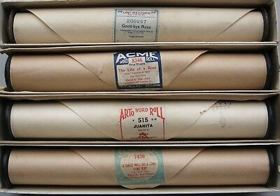 4 X various Song & Dance piano Pianola music Rolls --see pics for titles