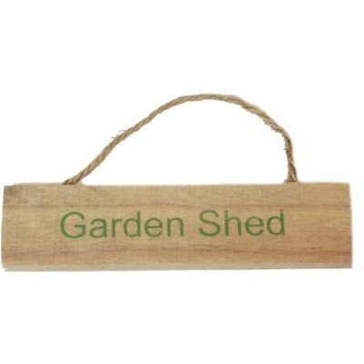 West5Products Garden Shed Shabby Vintage Chic Wooden Garden Sign Plaque w/