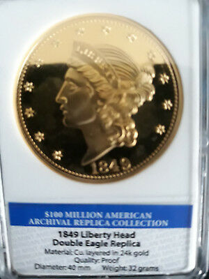 Münze Coin 1849 Liberty Head Double Eagle Replica, Limited Edition only 9999 set
