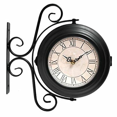 Wall Mounted Double Sided Home Station Clock