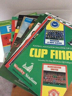 Run Of FA Cup Final Programmes, 1969-1983 And A Replay