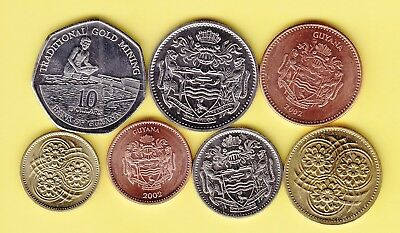Guyana  small lot 7 coins, all uncirculated
