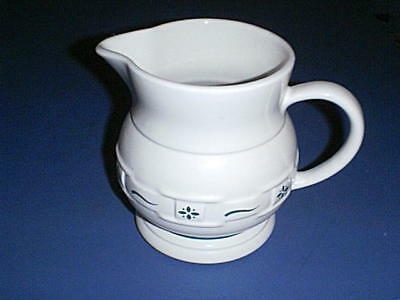 LONGABERGER Pottery Woven Traditions Ivory ~HERITAGE GREEN~ 1 Qt /64 oz  Pitcher