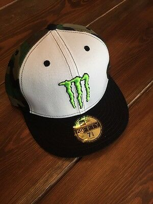 New Era 59Fifty Monster Energy Athlete Only Cap Hat Sz 7 3 8 Camo Edition f1945ce4202