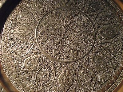 Vintage Middle East  Plated Copper Tray or Dish. 34 cm Diameter