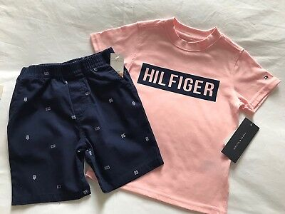 TOMMY HILFIGER BOYS 2 PIECE SET. Age 2T. Brand New. 100% Auth. FANTASTIC GIFT.