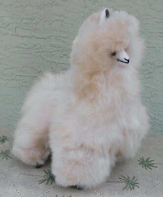 New Handmade By Our Artisan In Peru 11 - 12 inches Standing Plush Alpaca #64