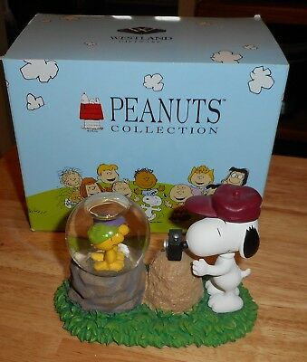Westland Peanuts Collection Snoopy Photographer Water Snow Globe In Box #8232