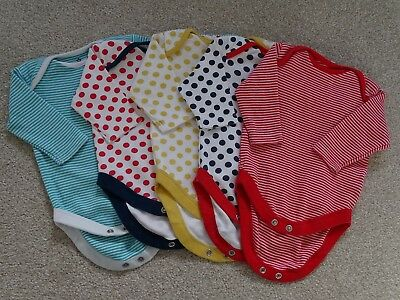 Set 5 Long Sleeved Unisex Bodysuits/Vests from Next Age Newborn (up to 1 Mth)