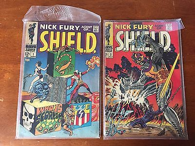 Nick Fury Agent Of Shield # 1st , # 2 Series Marvel 1968 VG Jim
