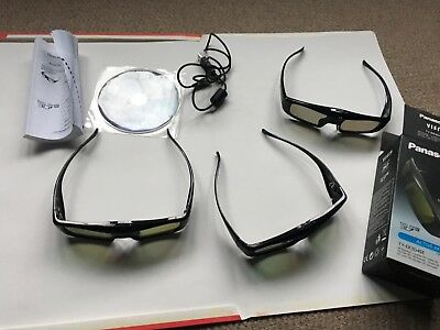 Panasonic-TY-ER3D4SE ER3D4MA 3D Glasses for VIERA TV Full HD Active RF  Size x3