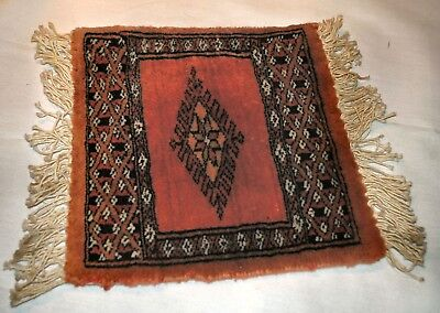 Reduced Beautiful Hand Woven Oriental Bokra Wool Rug Table Scarf, Gorgeous