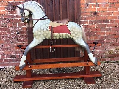 Large Vintage Wooden Rocking Horseby Collinsons With Worldwide Delivery