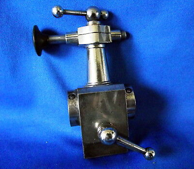 Boley 5237 Bevel Edged Watchmakers  Lathe Tailstock With Runner Holder / Pusher.