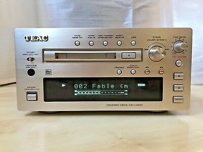 TEAC MD-H300 MiniDisc Deck, Remote, Box, Instructions, Cables, GREAT CONDITION