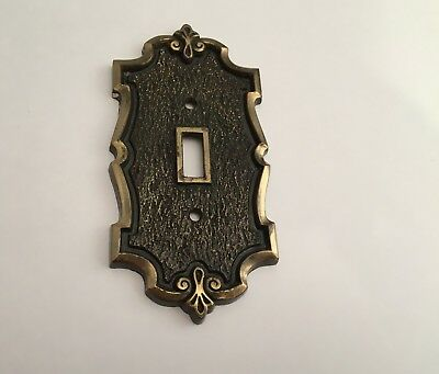 Vintage Amerock, Bonaventure, Single Toggle Light Switch Cover Plate Brass Gold