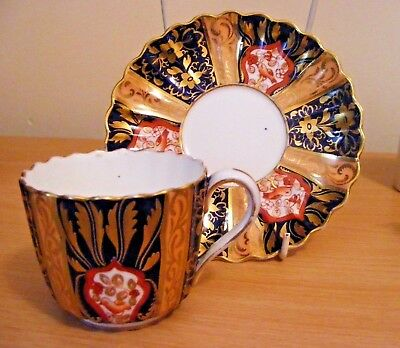 Antique Copeland Very Highly Gilded & Decorated  Cup & Saucer C1870