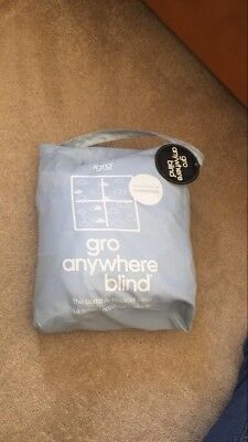 Gro Anywhere Blackout Blind - Baby Blue With Cloud Print