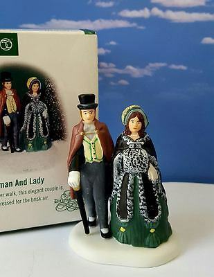 Dept 56 Dickens Village A GENTLEMAN AND LADY - New, Pretty!
