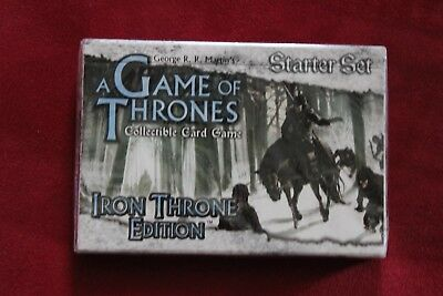 Game of Thrones CCG - Starter Set, Iron Throne Edition, Neu in Folie