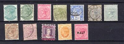 Natal. QV. 1882-1895. A selection of MH & Used stamps.