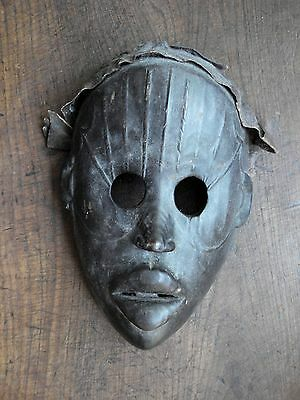Dan wood mask with leather ... west Africa