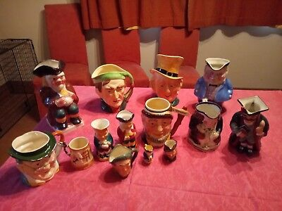 Toby jug collection 14 items