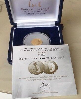 LUXEMBURG 10 EURO 2011 PP / PROOF FUCHS - RÉNERT MONUMENT, GOLD 3,11 gr.