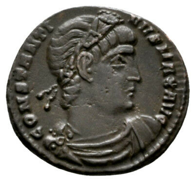 CONSTANTINE THE GREAT (330 AD) Ae3 Follis. Constantinople #DH 10481