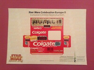 Star Wars Celebration Europe 2 Colgate spanish reprudution limited!!!