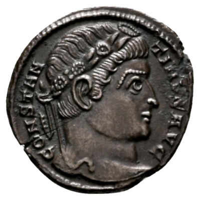 CONSTANTINE THE GREAT (328 AD) Unpublished Follis. Trier #VP 10505