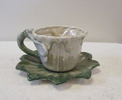 "Vintage FITZ and FLOYD Luster ware "" Dragonfly"" China  Teacup & Saucer"