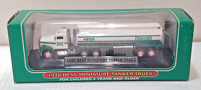 1998 HESS Gasoline Miniature Tanker Truck - New - Never Removed From Box