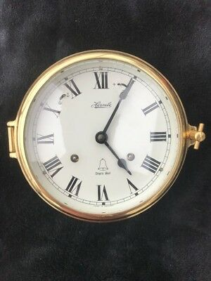 Authentic Hermle 35065-000132 Mayflower German made brass ships bell clock